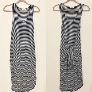 Jersey knit stripe dress. Ultra stretch